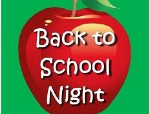 Back to School Night – Tuesday, September 3, 4:00 – 6:00 pm