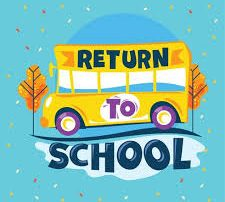 Bus with Return to School words