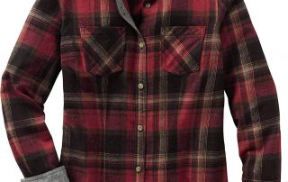 Red and gray flannel shirt