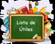 Lista de Utiles written on chalkboard